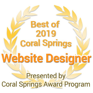 Coral Springs Best Website Designer Award 2019